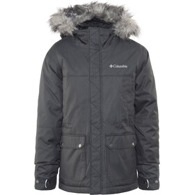 Columbia Snowfield Chaqueta Niños, black heather